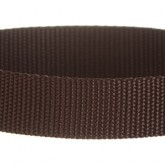 Dark Brown 1 Inch PolyPro Polypropylene Webbing