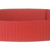 Hibiscus Red 1 Inch PolyPro Polypropylene Webbing