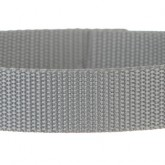 Medium Gray 1 Inch PolyPro Polypropylene Webbing