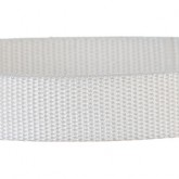White 1 Inch PolyPro Polypropylene Webbing