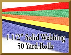 1 1/2 Inch Solid Webbing 50 Yard Rolls Product Image