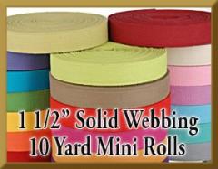 10 Yard Mini Rolls 1 1/2 Inch Solid Webbing Product Image